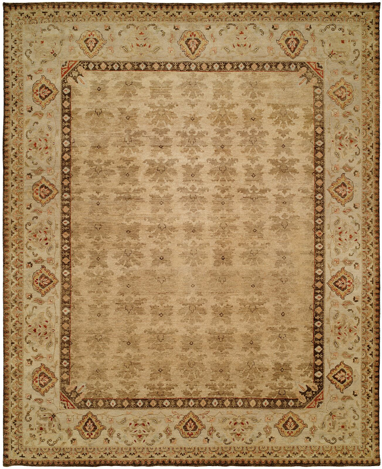 Gangneung Hand-Knotted Tan Area Rug Rug Size: 3' x 5'