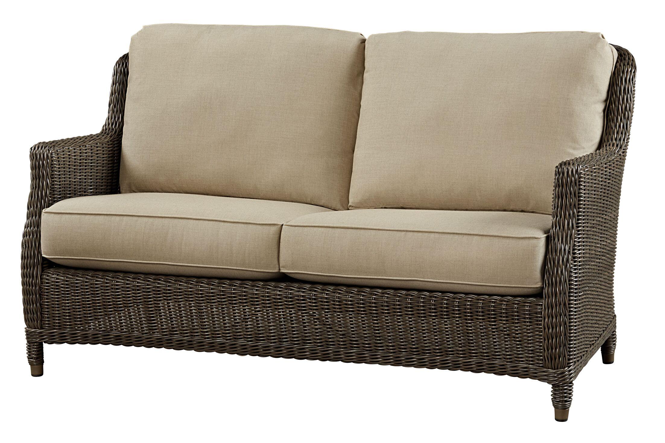 Sofa with Cushion Fabric: Canvas Air Blue