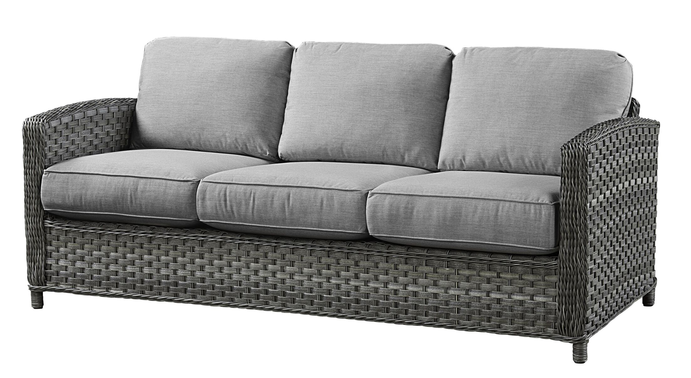 Sofa with Cushions Fabric: Flagship Mineral