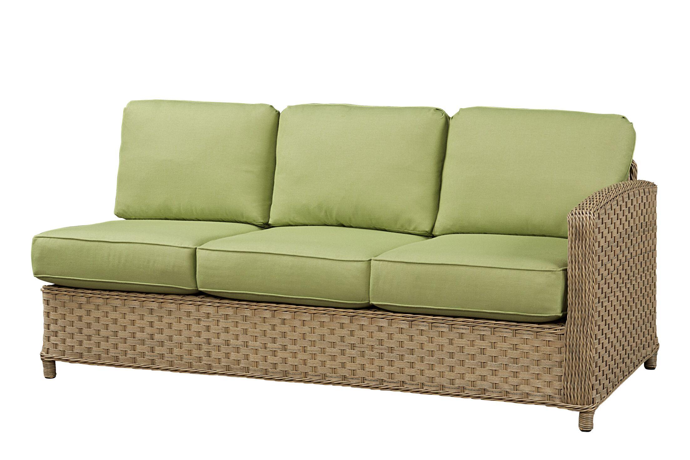 Sofa with Cushion Frame Finish: Natural, Fabric: Canvas Navy
