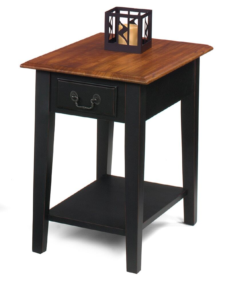Buchholz End Table Color: Brown Cherry / Black