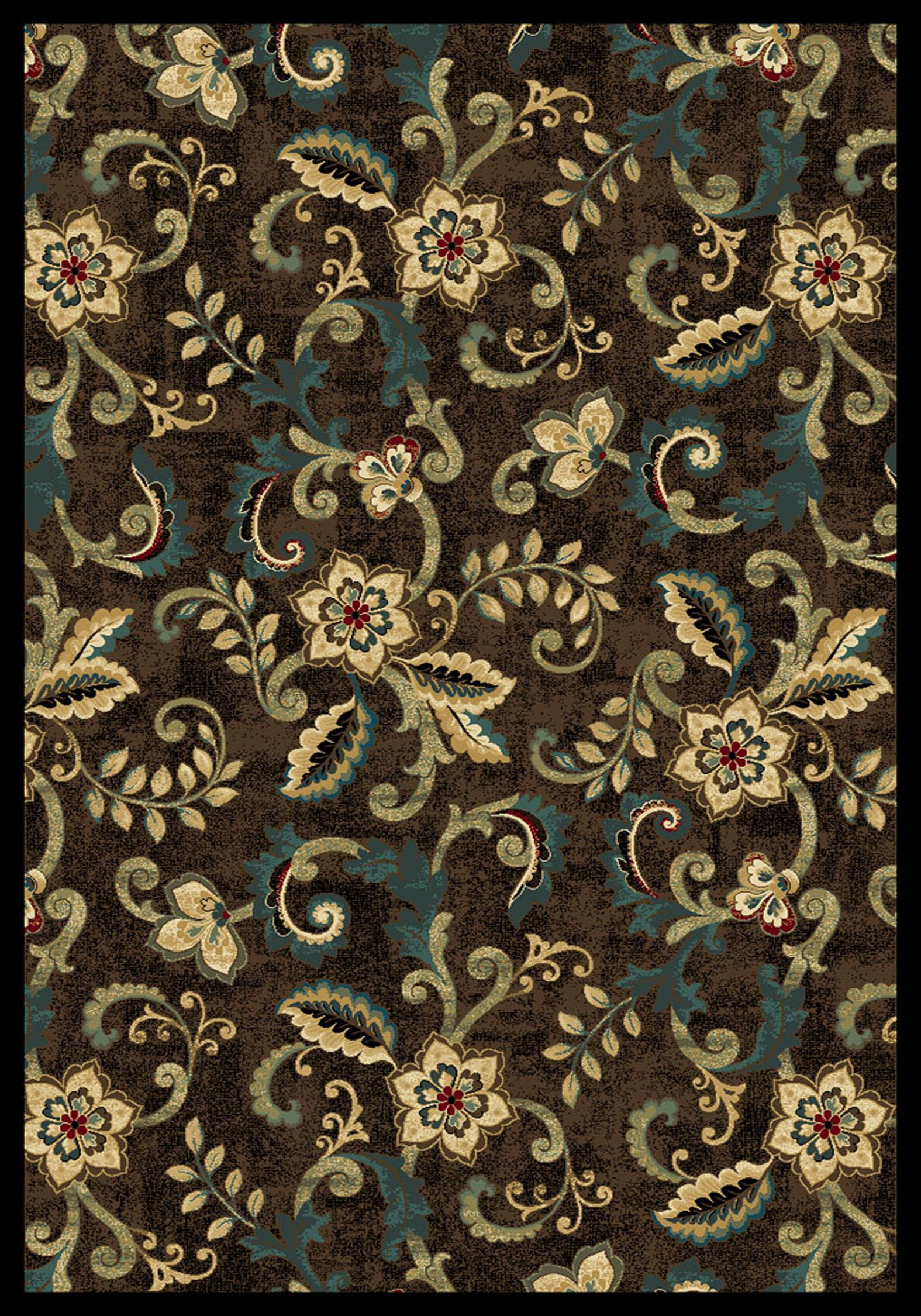 Cayce  Brown Area Rug Rug Size: Rectangle 5'3