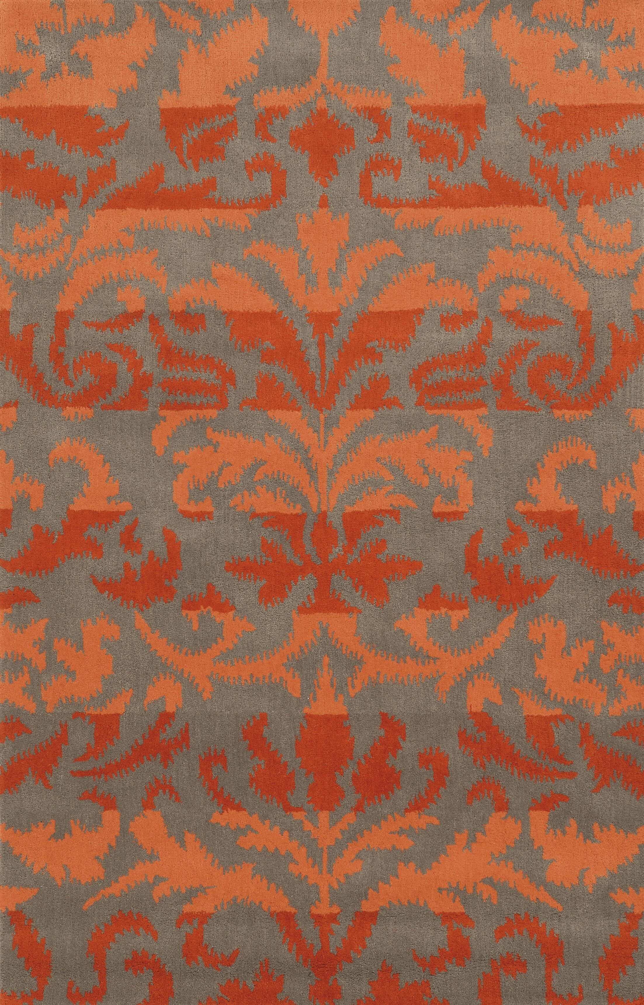 Adiva  Hand-Tufted Red/Orange Area Rug Rug Size: Round 8'