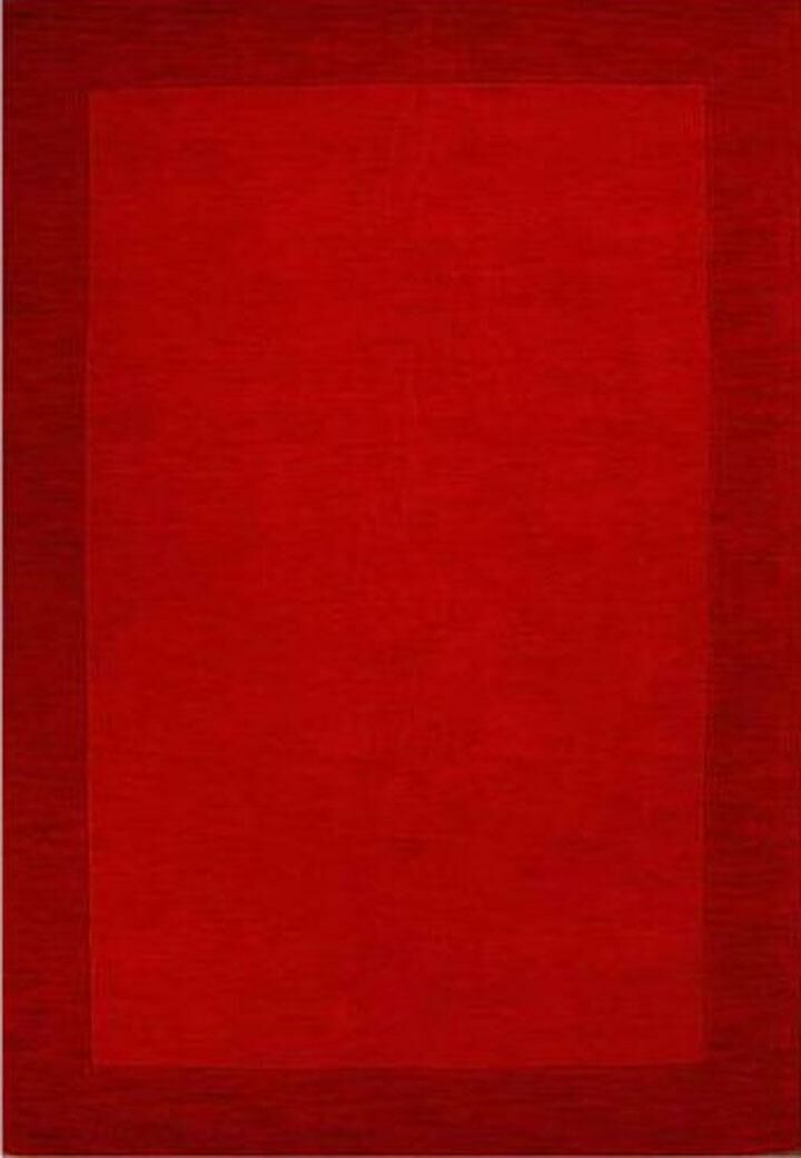 Henley Hand-Tufted Red Dark Area Rug Rug Size: 8' x 10'