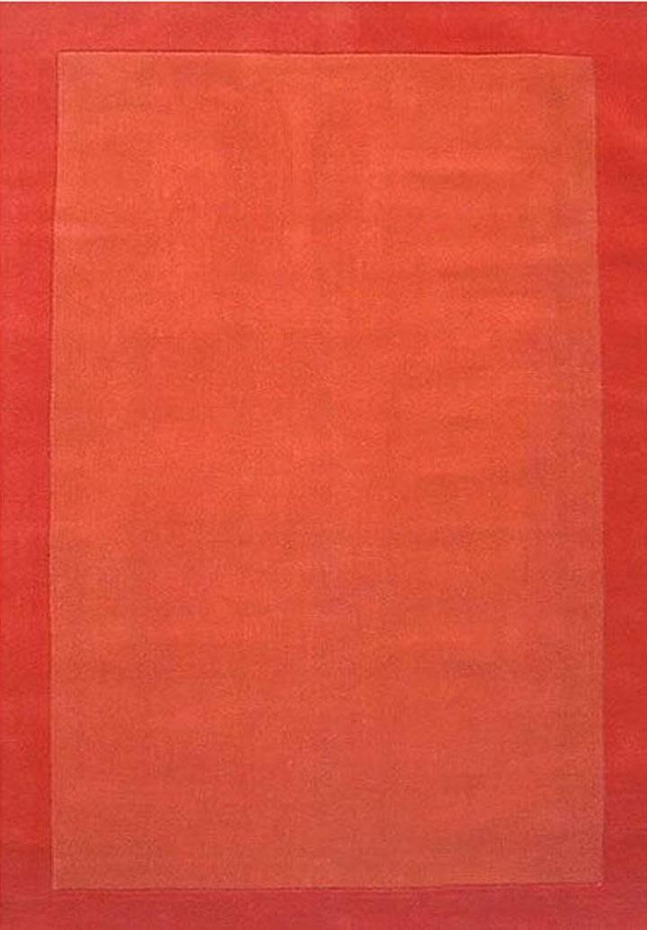 Henley Hand-Tufted Orange Dark Area Rug Rug Size: 9' x 12'