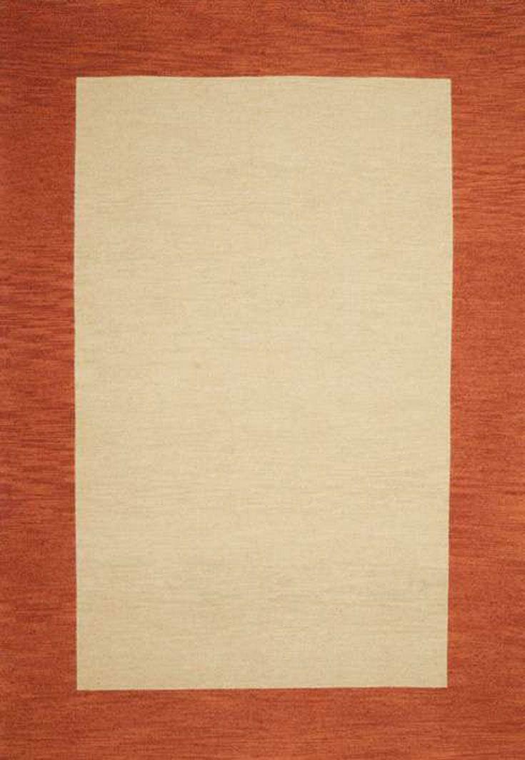 Henley Hand-Tufted Cardinal Terra Cotta Area Rug Rug Size: 5' x 8'