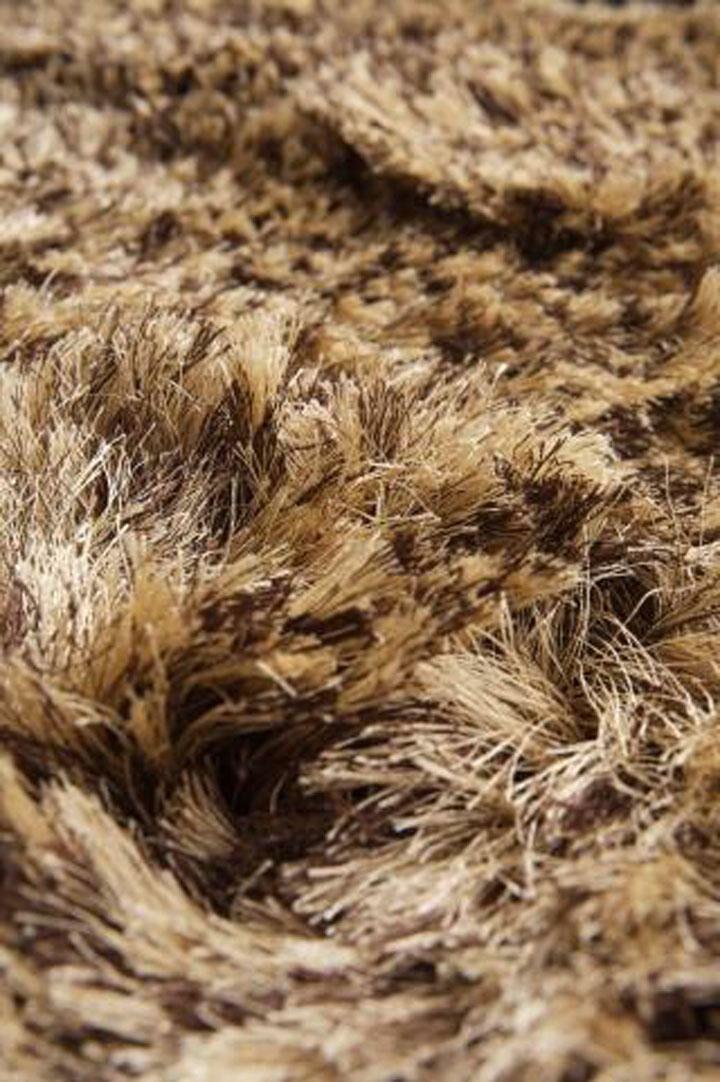 Silk Hand-Woven Brown/Beige Area Rug Rug Size: Round 10'