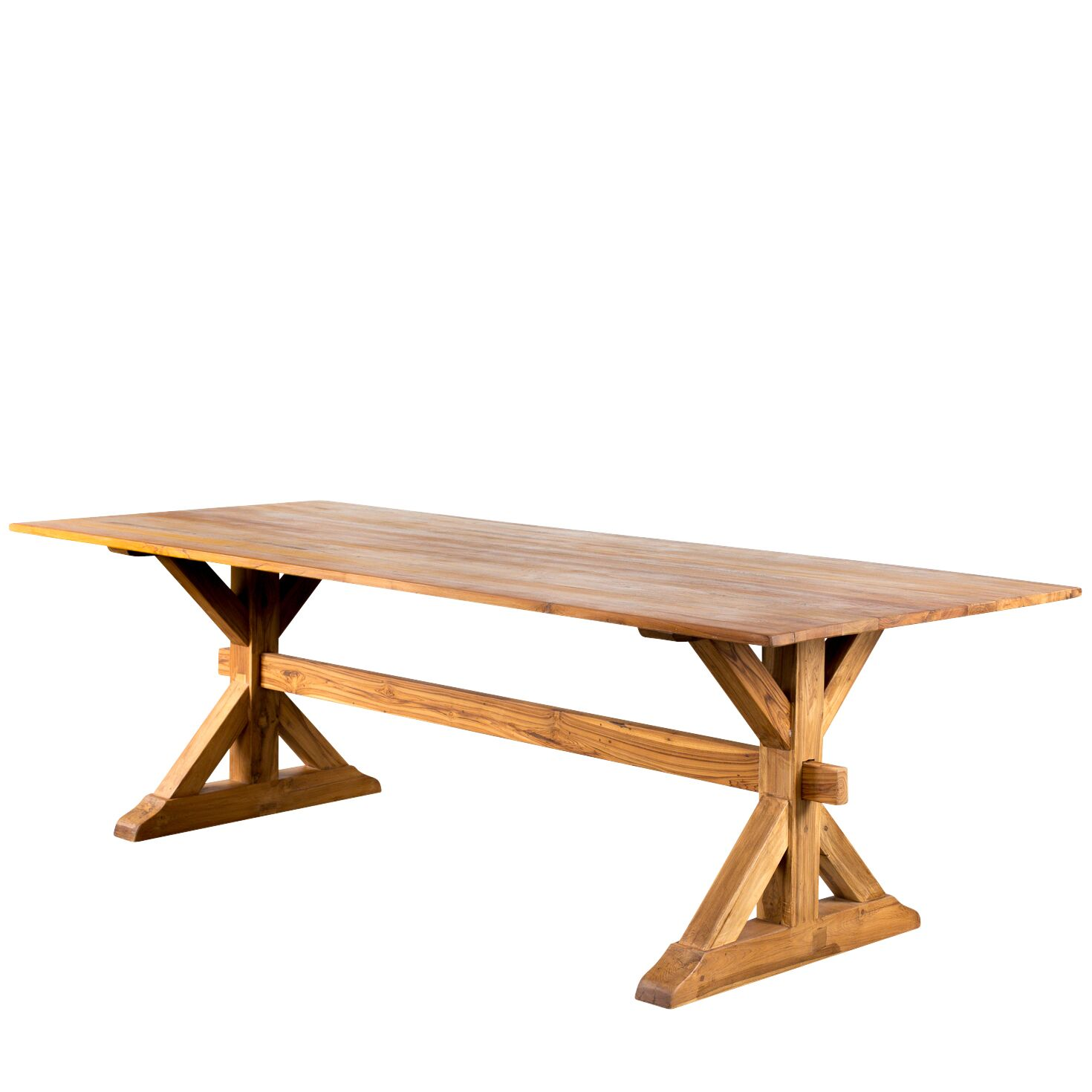 Trestle Gathering Solid Wood Dining Table
