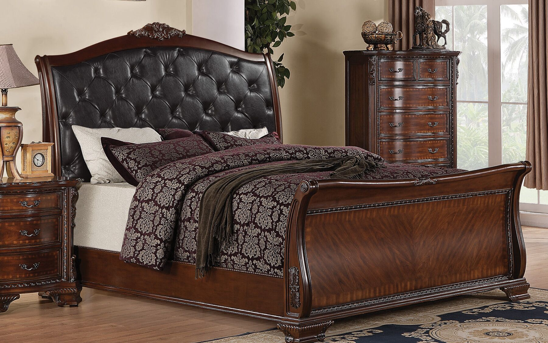 Martone Upholstered Sleigh Bed Size: King