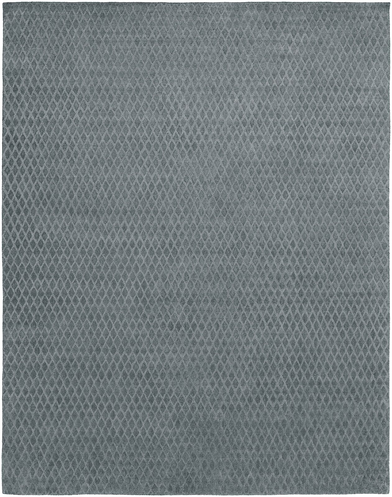 Hand-Woven Gray Area Rug Rug Size: 6' x 9'