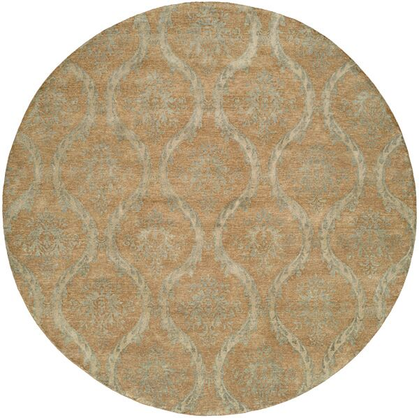 Nicaragua Hand-Knotted Brown/Blue Area Rug Rug Size: Runner 2'6
