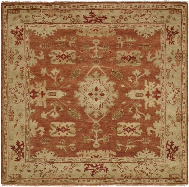 Longview Hand-Knotted Orange/Brown Area Rug Rug Size: Rectangle 3' x 5'