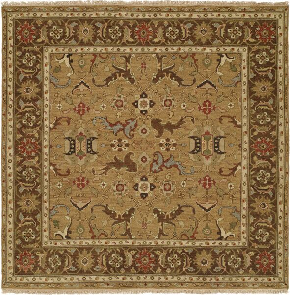 Antofagasta Hand-Woven Gold/Brown Area Rug Rug Size: Rectangle 10' x 14'