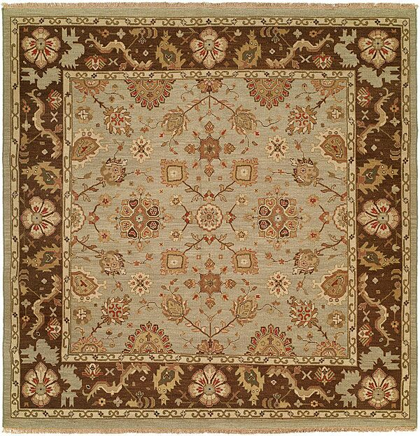 Valparaiso Hand-Woven Beige/Brown Area Rug Rug Size: Square 8'