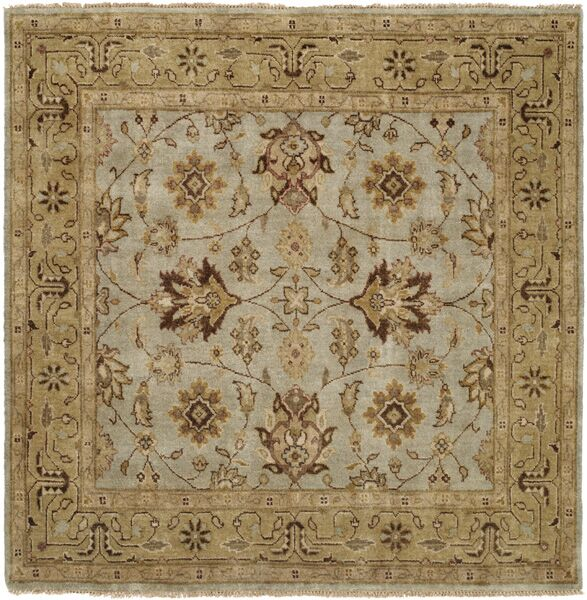 Piso Hand-Knotted Blue/Brown Area Rug Rug Size: Rectangle 10' x 14'