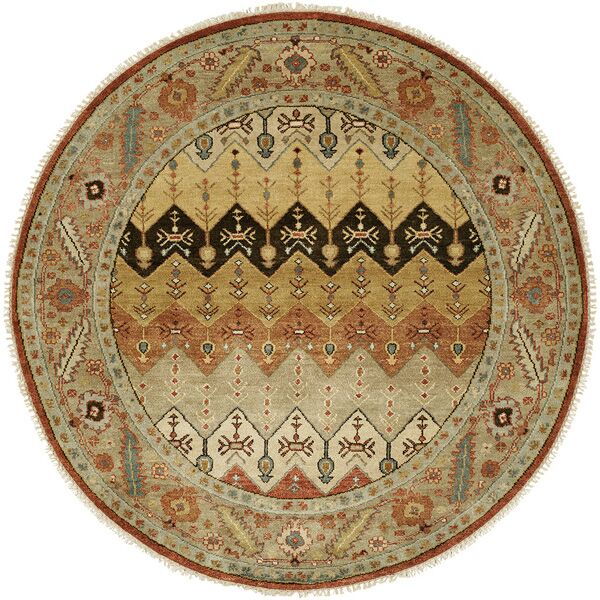 Eilat Hand-Knotted Brown/Gold Area Rug Rug Size: Rectangle 3' x 5'