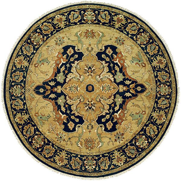 Hand-Knotted Yellow/Black Area Rug Rug Size: Rectangle 6' x 9'