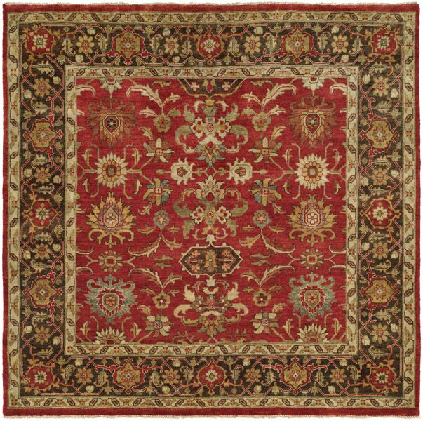 Vostochny Hand-Knotted Red/Brown Area Rug Rug Size: Runner 2'6
