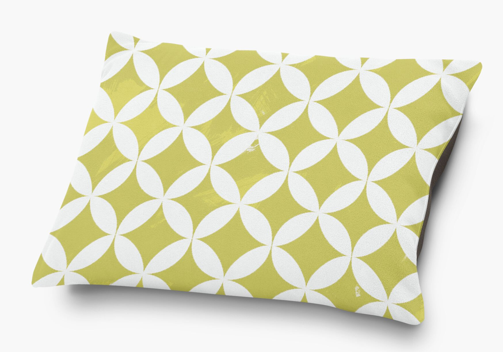 Persephone Pet Pillow with Super Plush Poly Top Color: Yellow