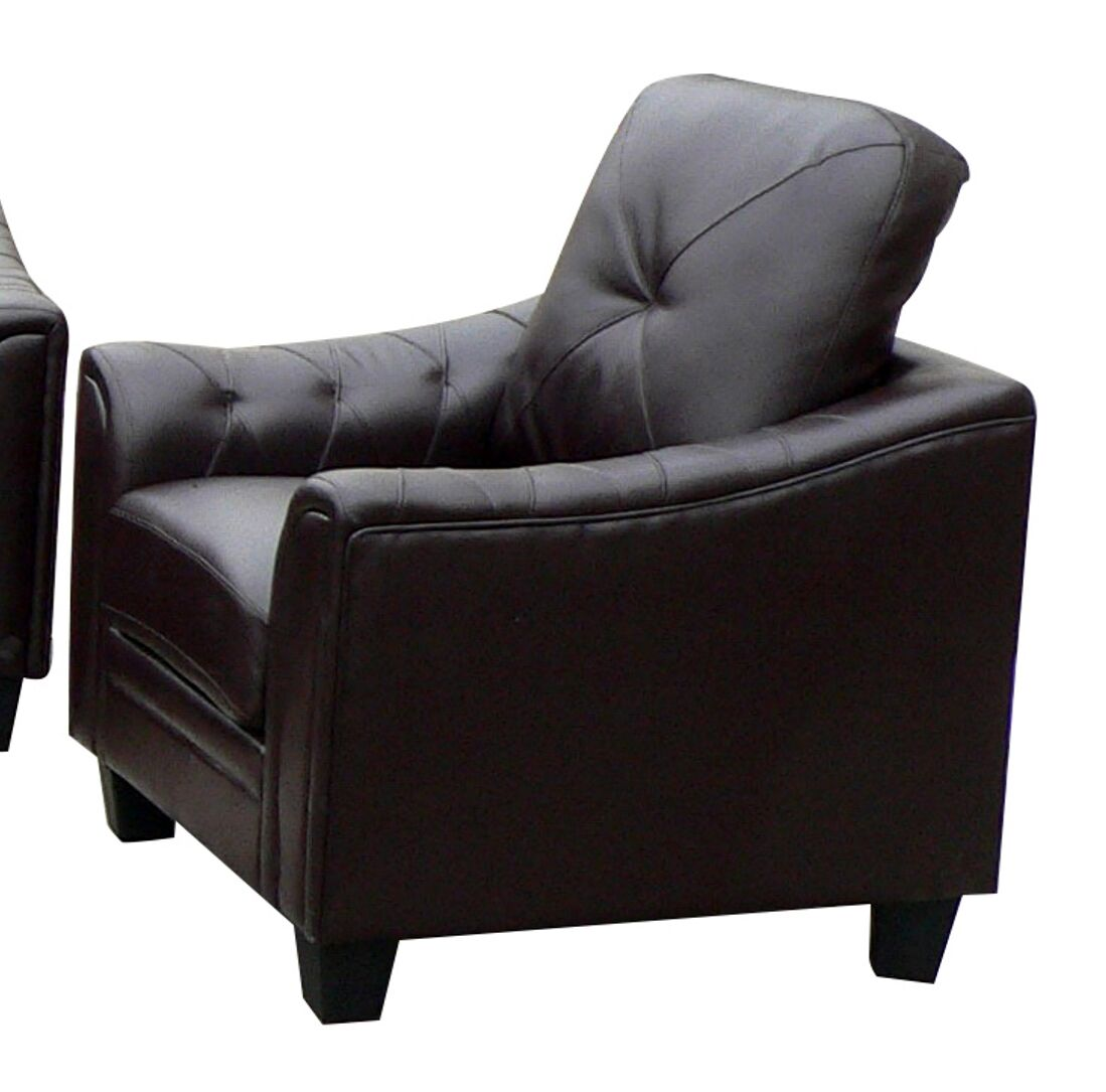 Behrends Club Chair Upholstery: Black