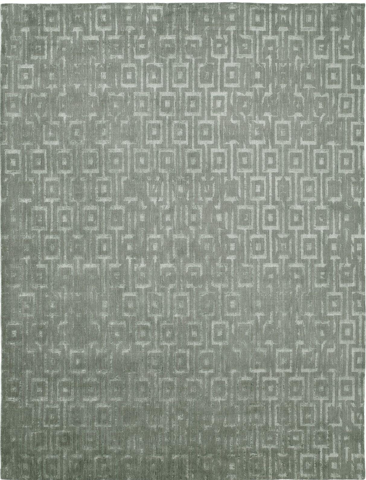 Hand-Woven Gray Area Rug Rug Size: 8' x 10'
