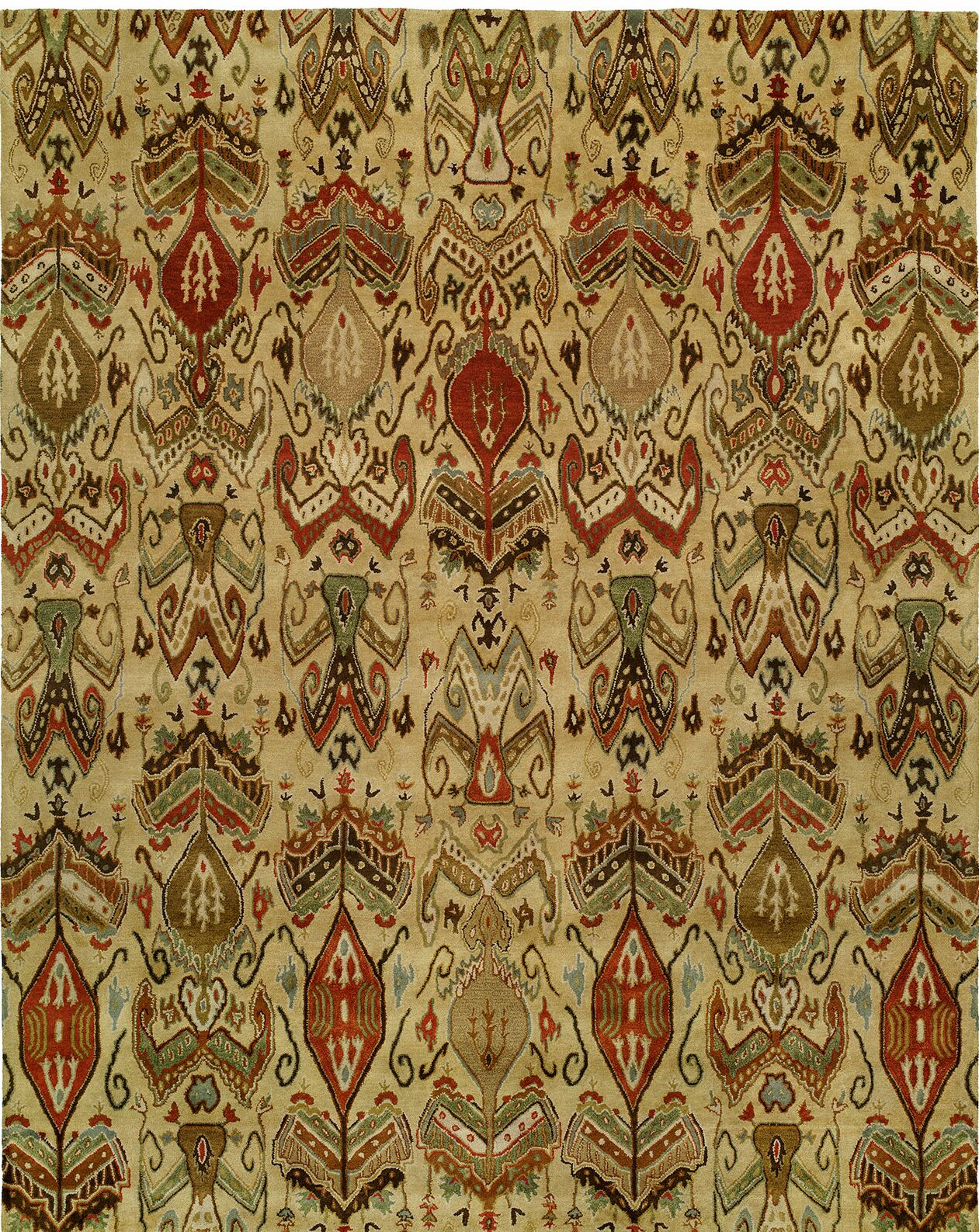 Hand-Tufted Beige Area Rug Rug Size: Rectangle 6' x 9'