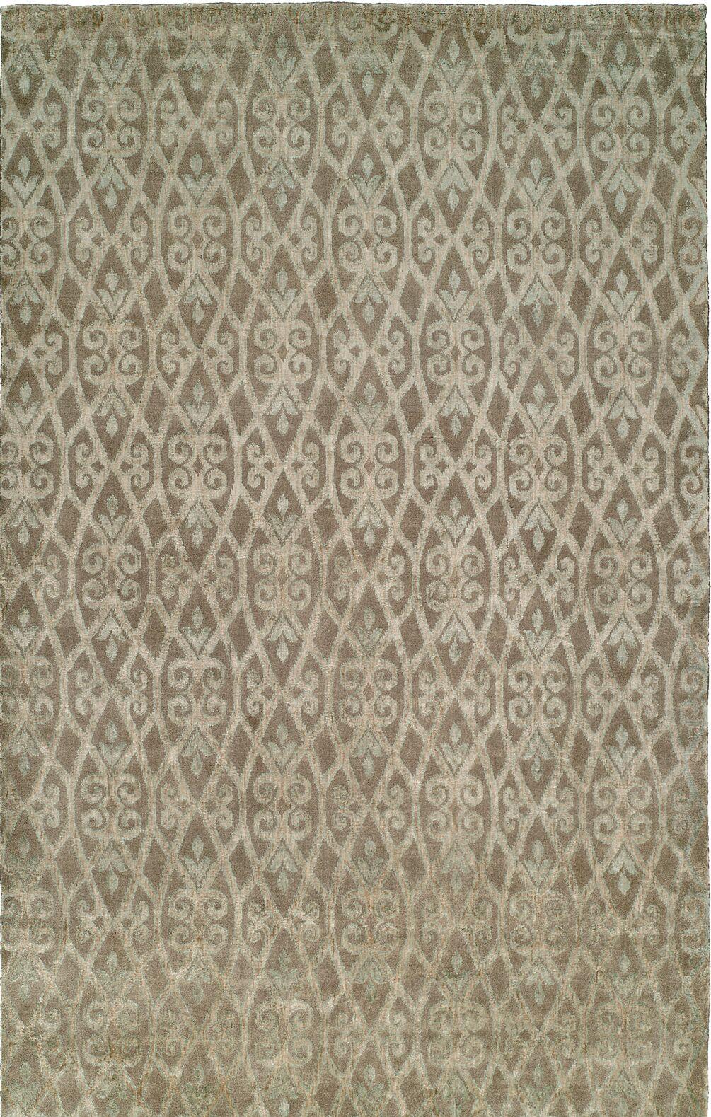 Hand-Woven Beige Area Rug Rug Size: 6' x 9'