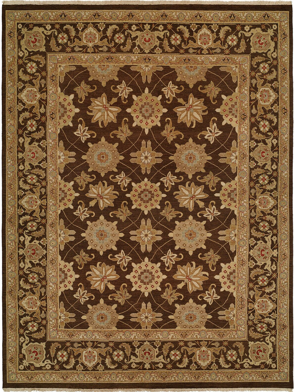 Hand-Woven Brown Area Rug Rug Size: Rectangle 6' x 9'