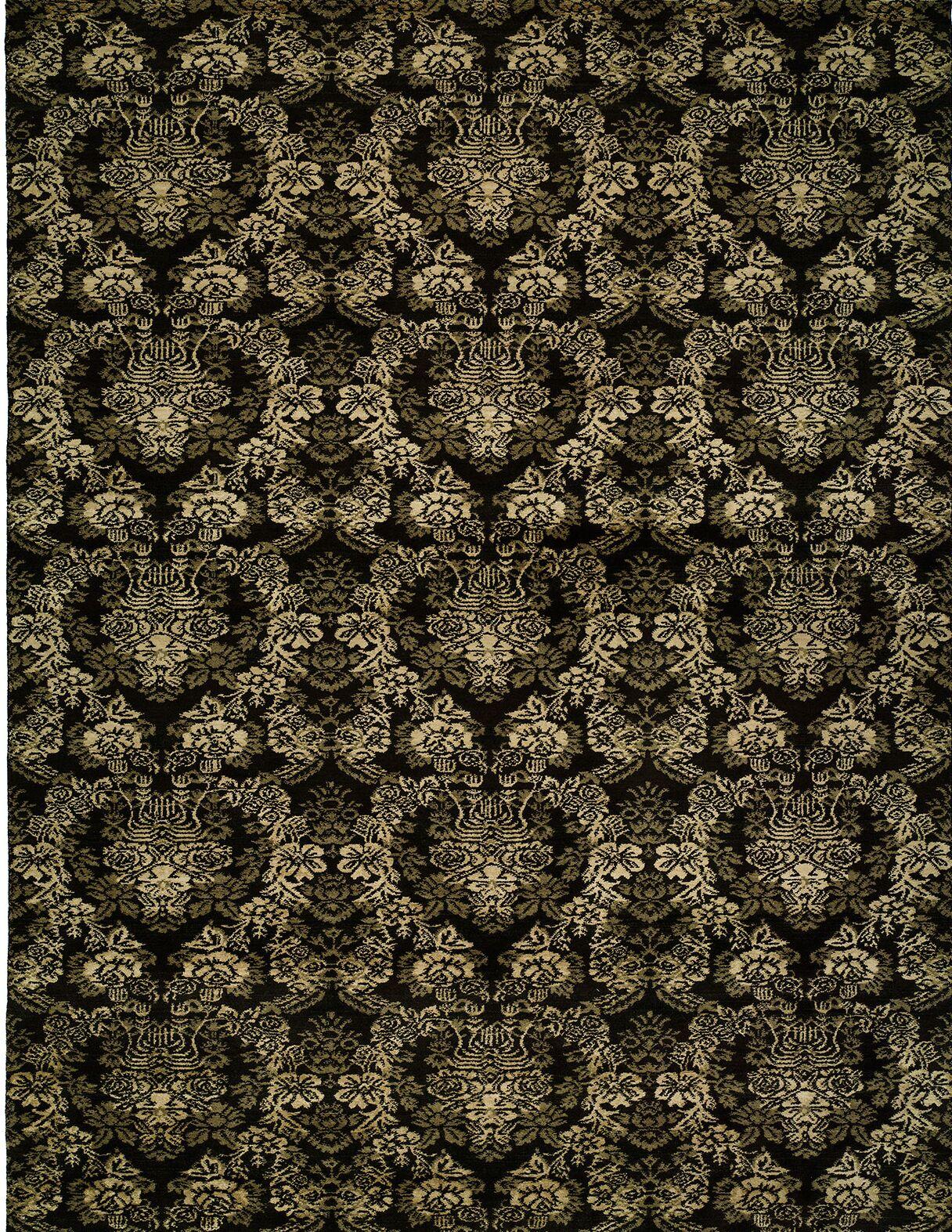 Hand-woven Black Area Rug Rug Size: 8' x 10'