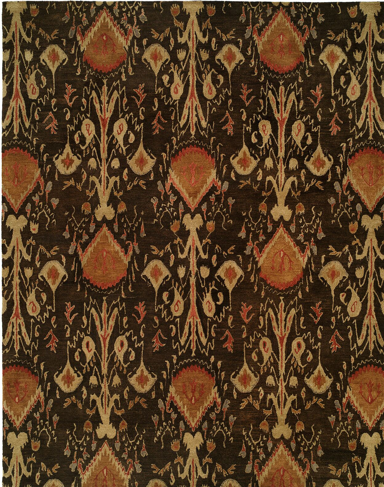 Hand-Tufted Brown Area Rug Rug Size: Round 4'