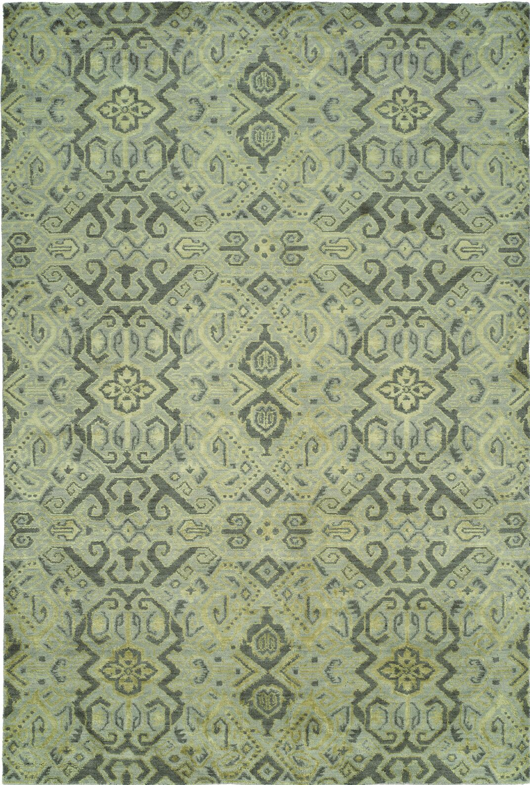 Hand-Woven Green Area Rug Rug Size: 6' x 9'