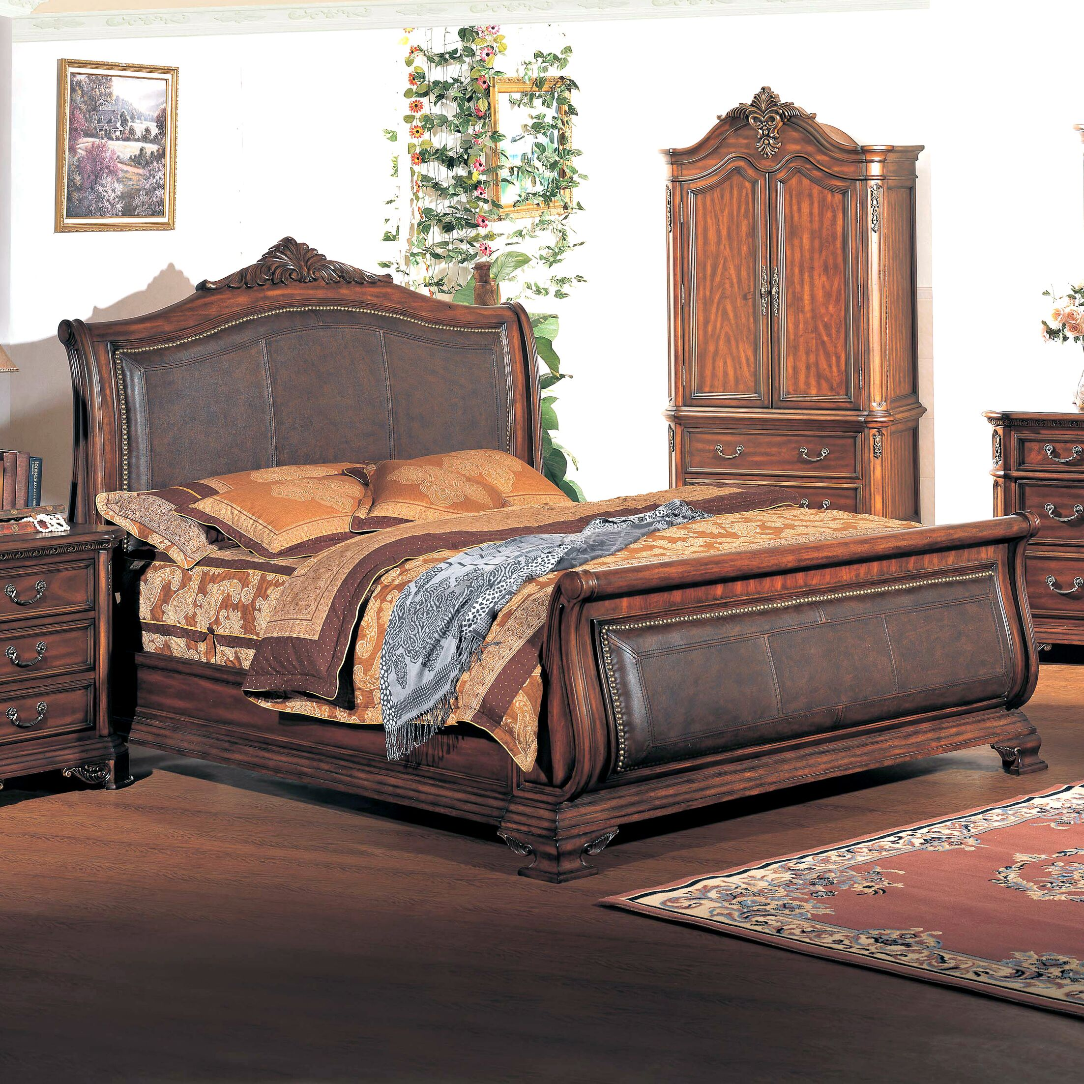 Tipton Sleigh Bed Size: King