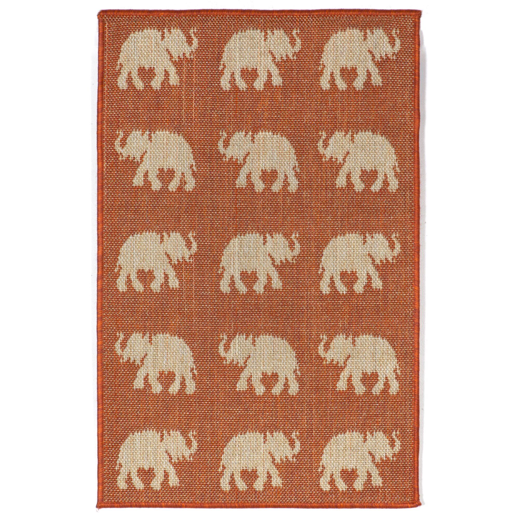 Slimane Elephants Indoor/Outdoor Rug Rug Size: Rectangle 7'10