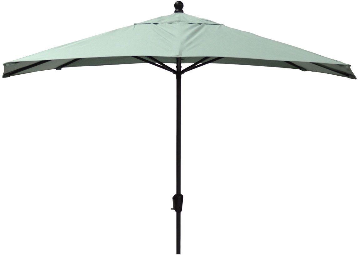 10' Market Umbrella Fabric: Spectrum Sand, Frame Finish: Champagne