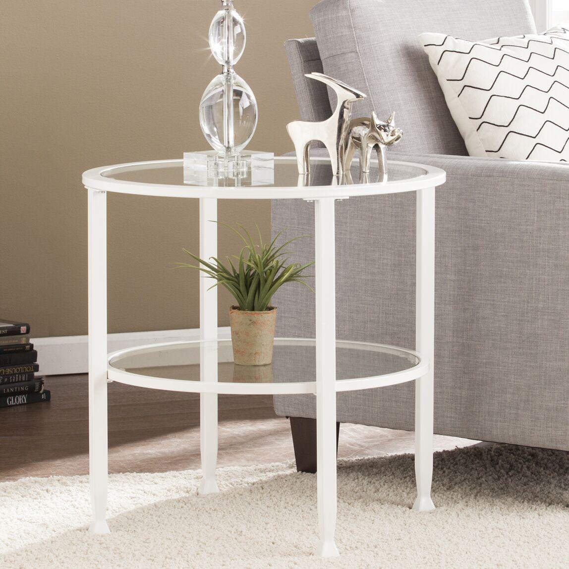 Casas End Table Color: White
