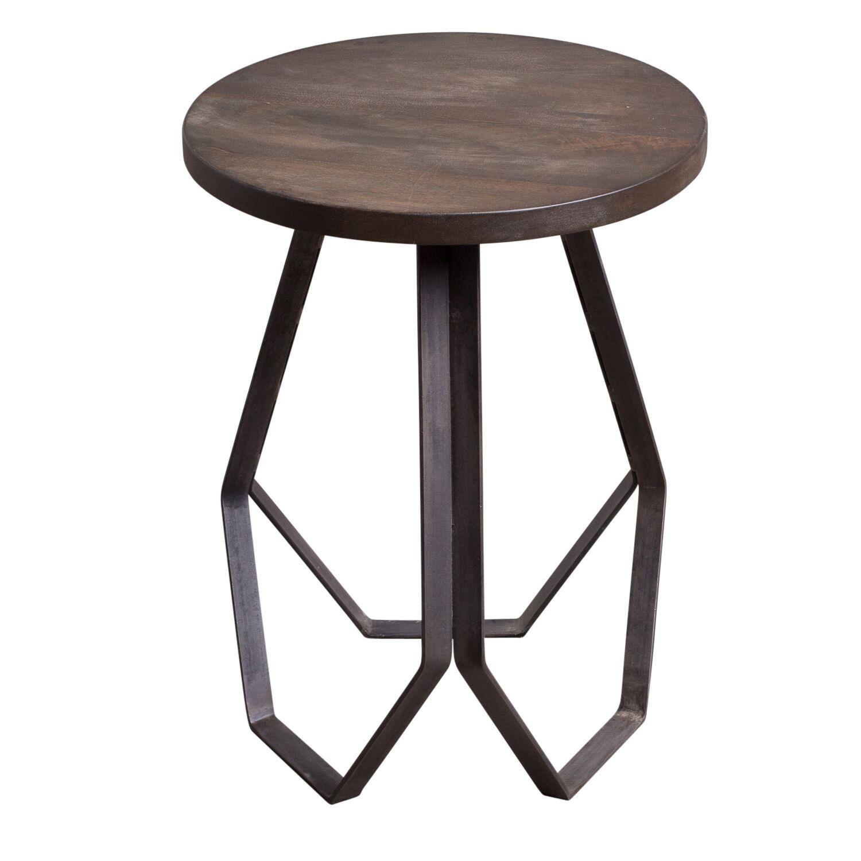 Genevieve Geometric End Table