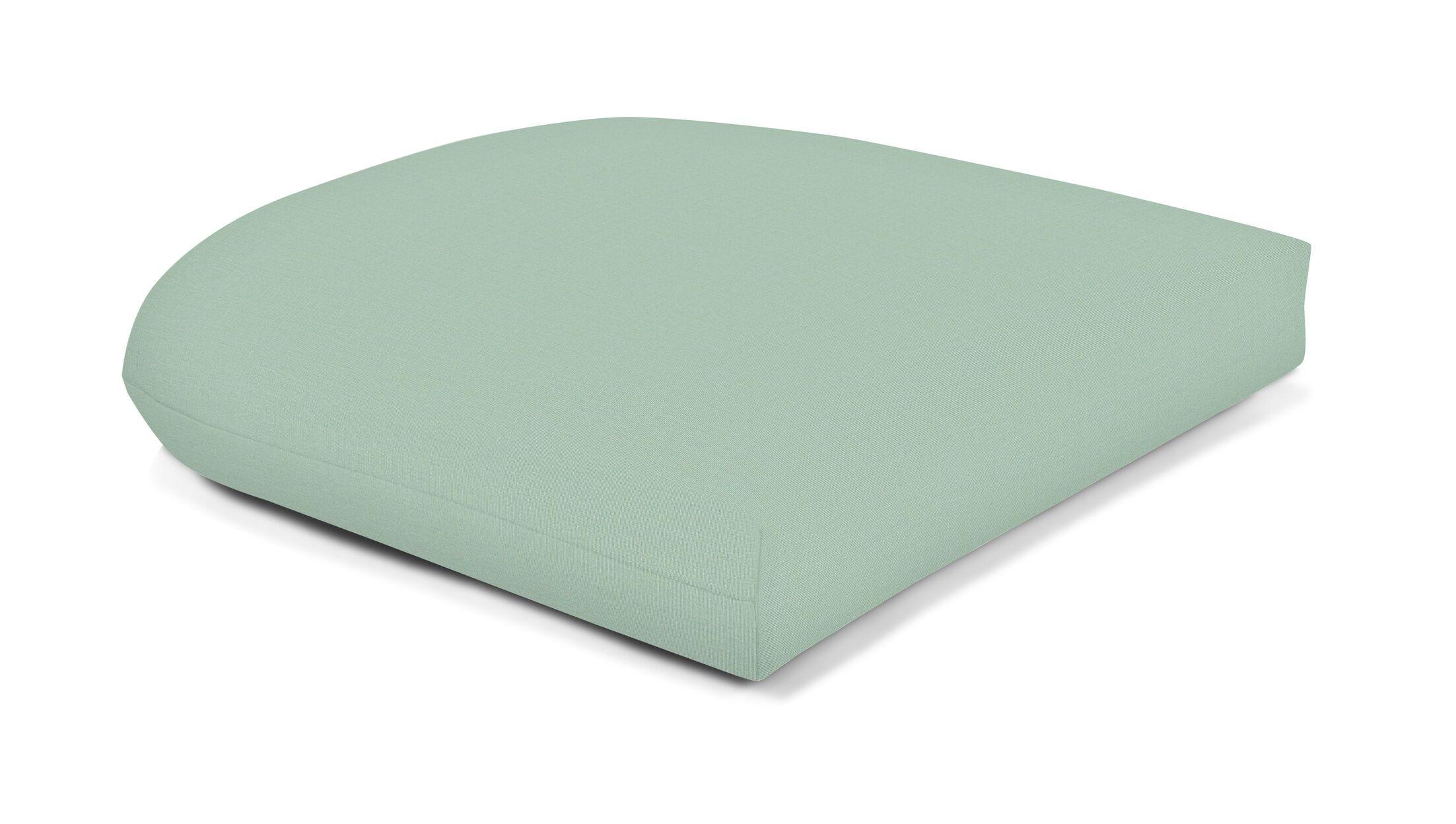 Indoor/Outdoor Sunbrella Seat Cushion Fabric: Spa