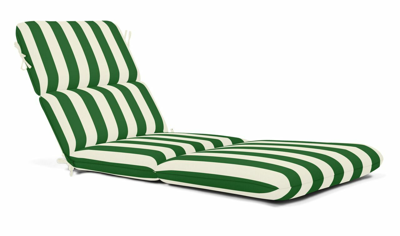 Indoor/Outdoor Chaise Lounge Cushion Fabric: Maxim Forest Green