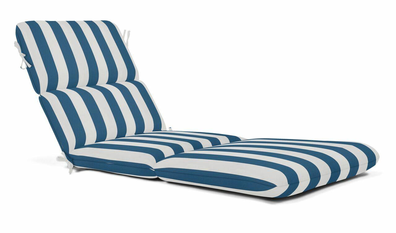 Indoor/Outdoor Chaise Lounge Cushion Fabric: Maxim Regatta