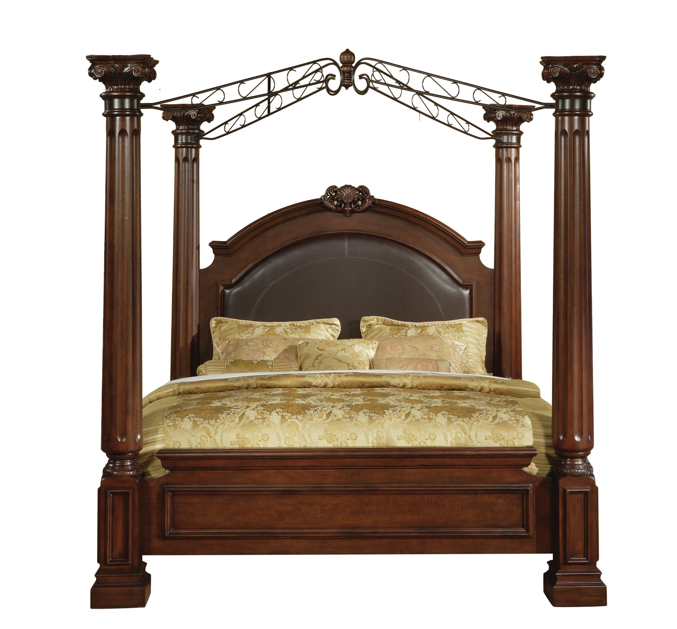 Payne Upholstered Canopy Bed Size: Queen
