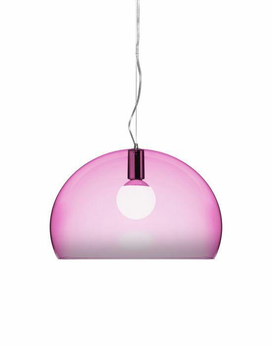 FL/Y 1-Light Suspension Bowl Pendant Color: Scarlet