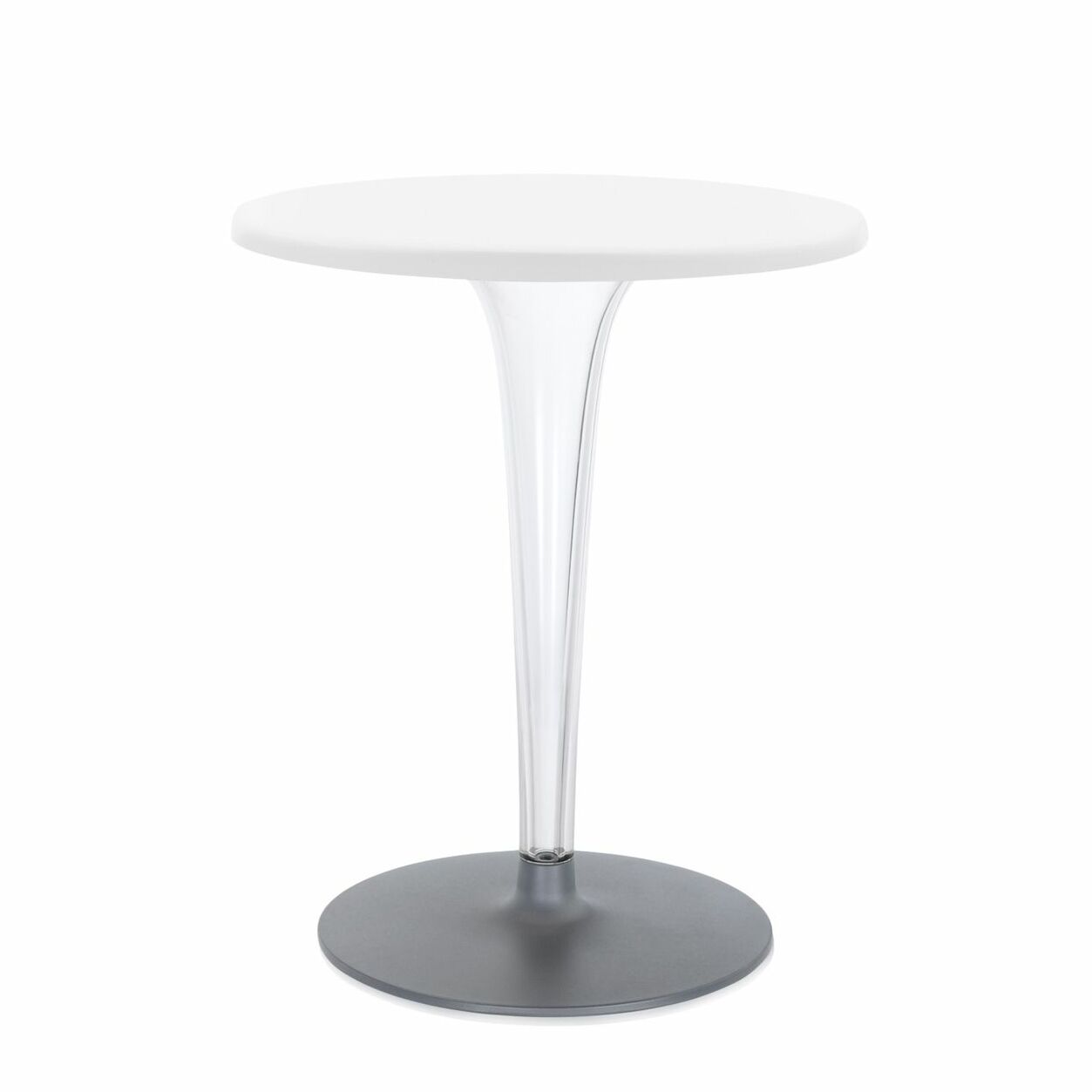 Top Top Bar Table Finish: White, Design: Round Leg/Round Top