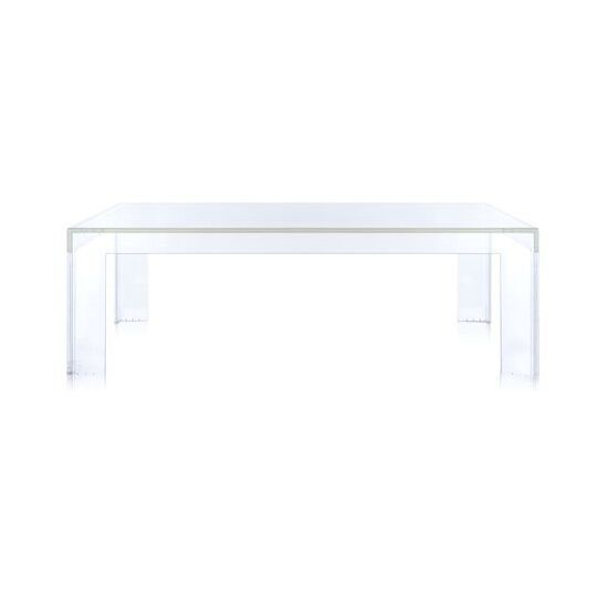 Invisible Side Table Color: Transparent Crystal, Table Size: 15.7