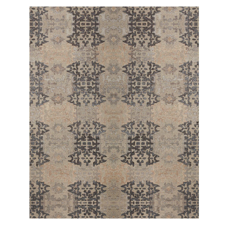 Cassandra Tile Path Hand-Woven Grey Area Rug Rug Size: Rectangle 8' x 10'