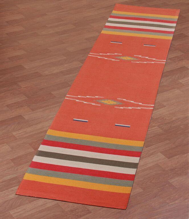 Sedona Hand-Woven Orange Area Rug Rug Size: 4' x 6'