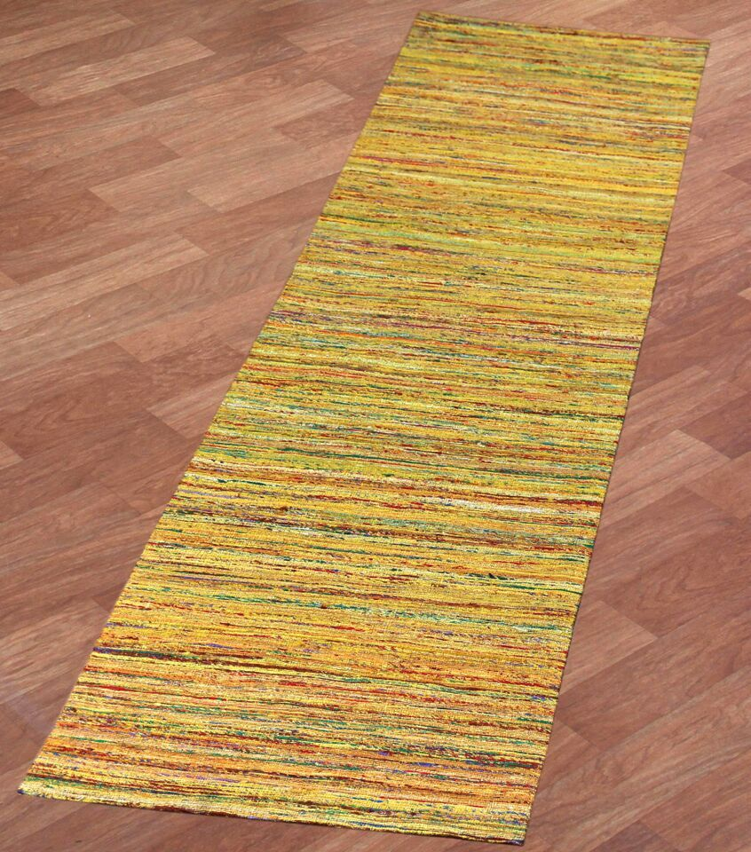 Sari Silk Handmade Yellow Area Rug Rug Size: 4' x 6'