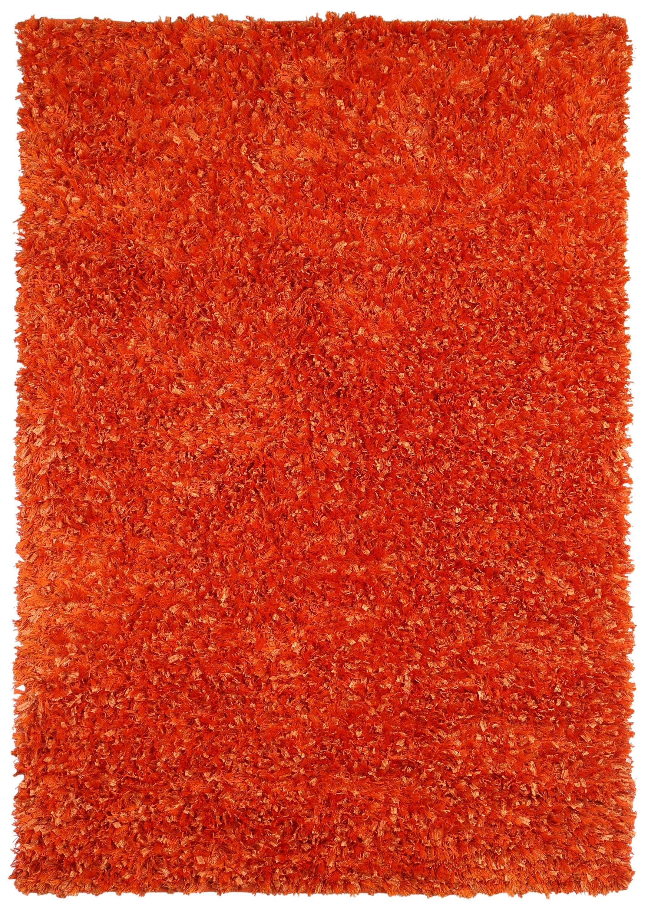 Baumann Hand-Loomed Orange Area Rug Rug Size: Rectangle 4' x 6'