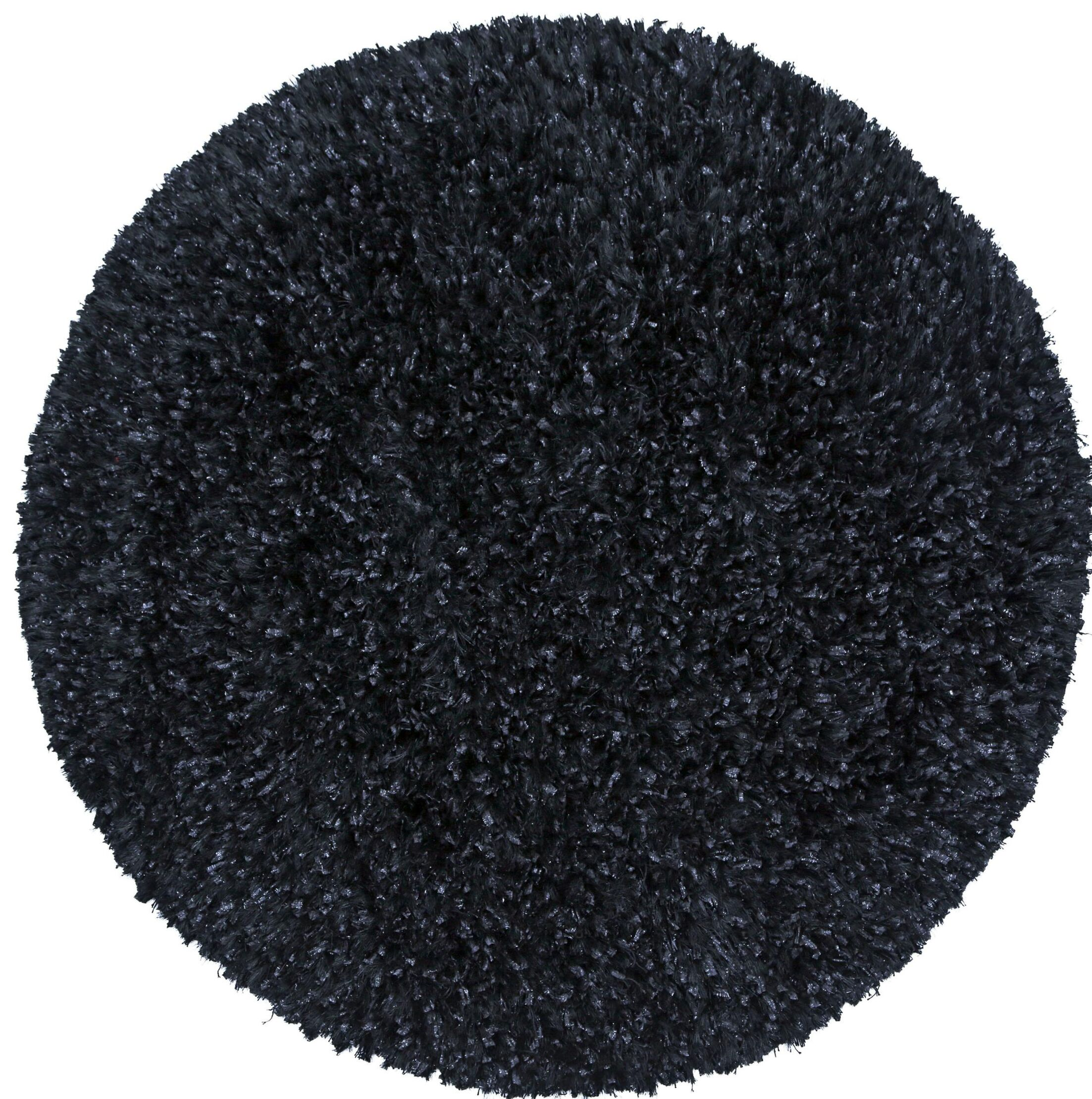 Baumann Hand-Loomed Black Area Rug Rug Size: Round 2'