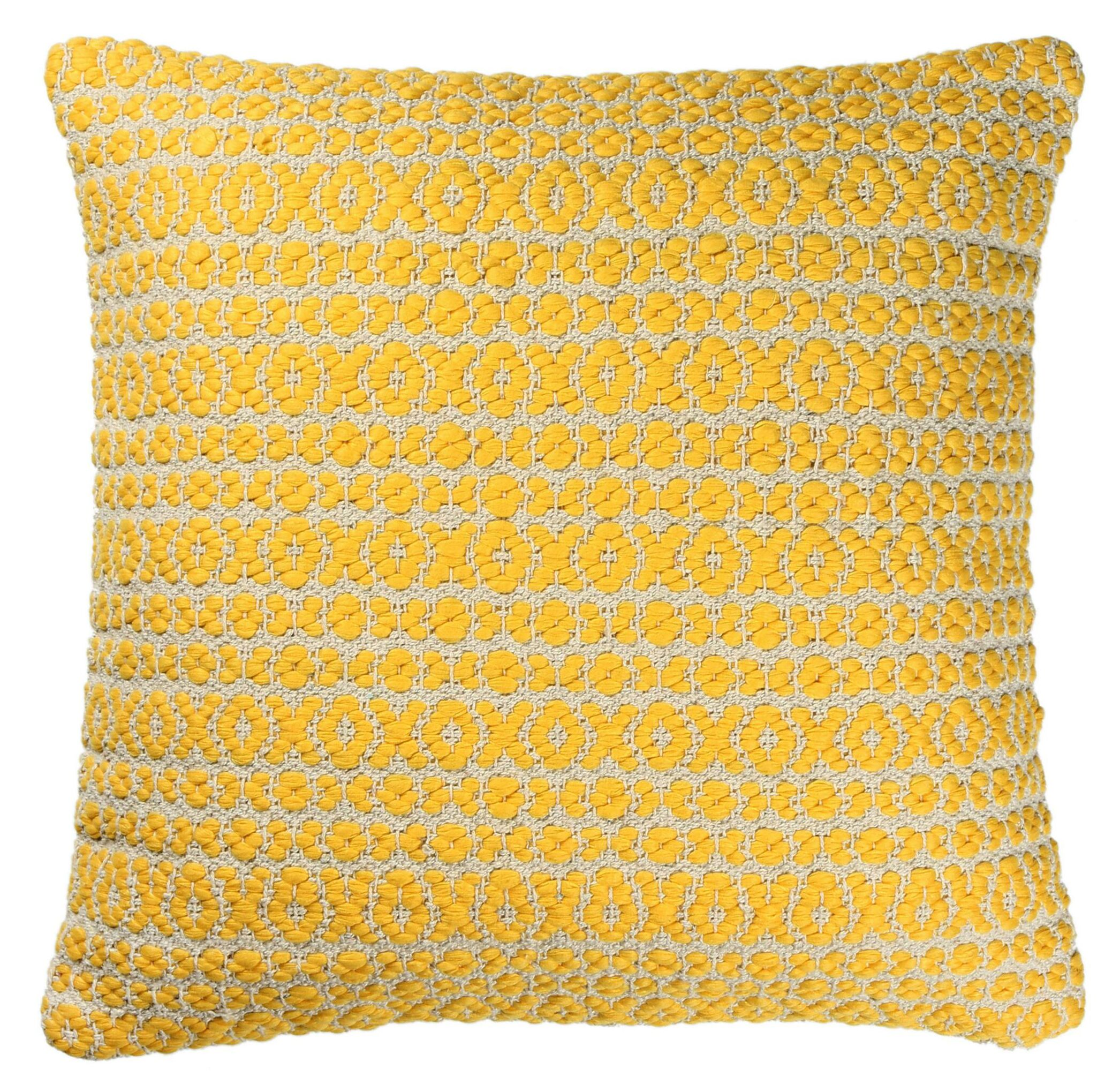 Structure Pillow Color: Yellow, Size: 27