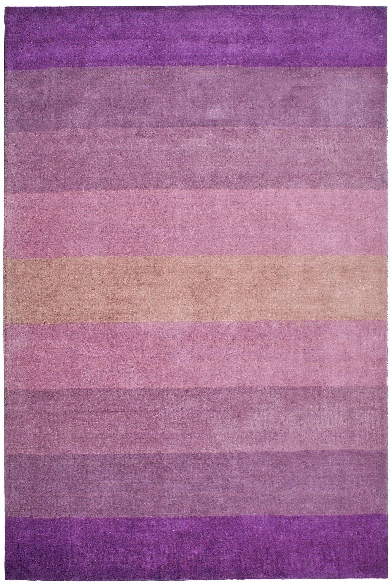 Degarmo Purple Stripes Area Rug Rug Size: Rectangle 5' x 8'